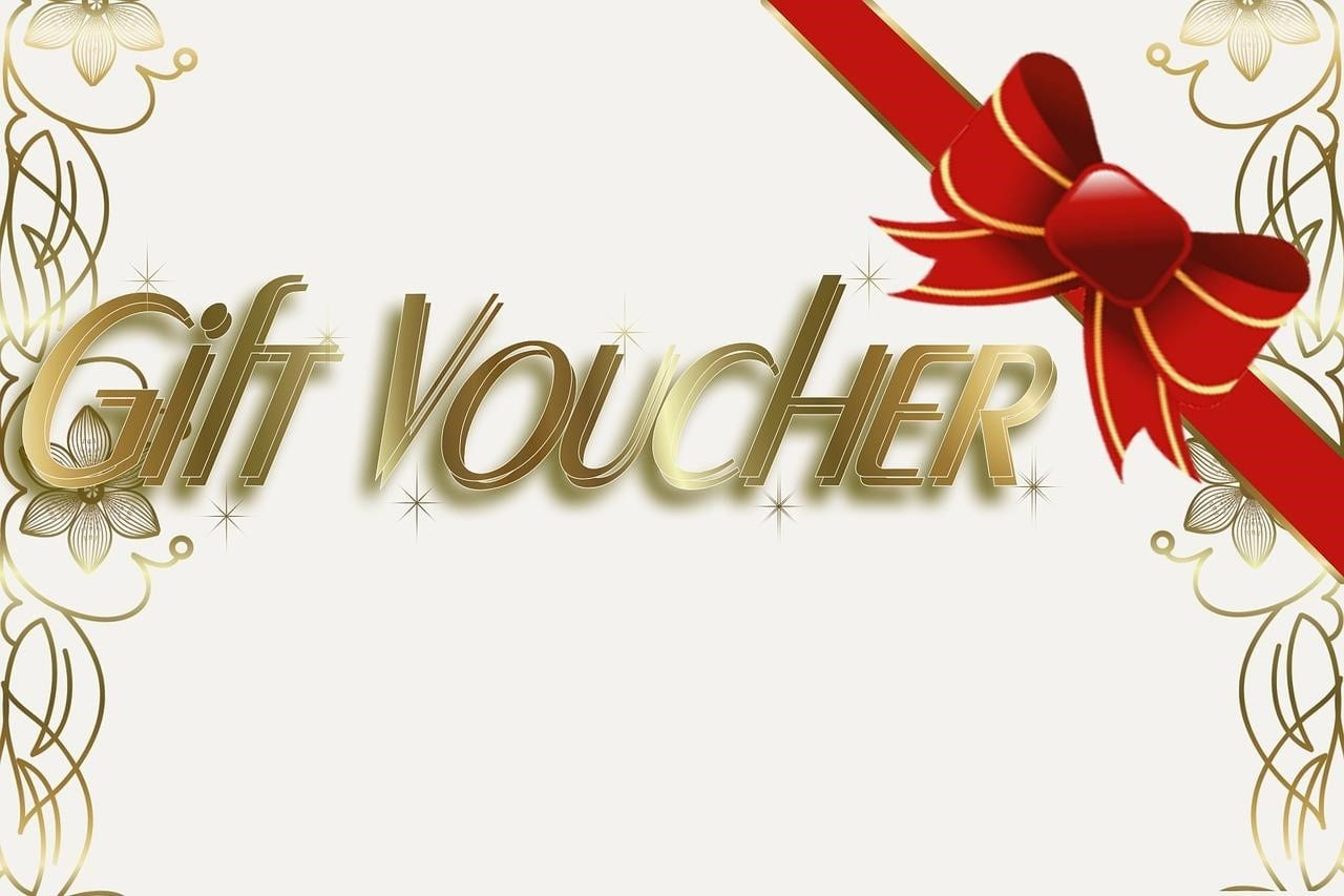 Online shopping gift vouchers