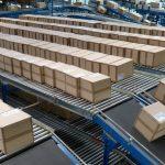 conveyor system in factory packaging